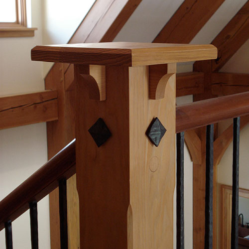 Newel Post Pittsburgh PA Houses Timber Frame Home