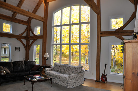 Great Room Chardon OH Houses Timber Frame Home